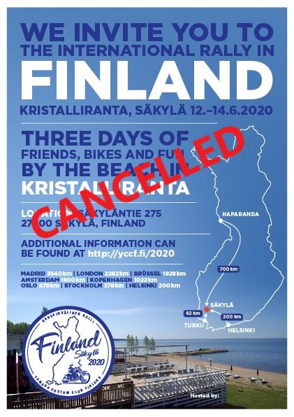 CANCELLED - Finland International Rally 2020 @ Kristalliranta